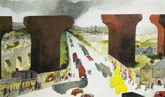 Artworks of Edward Burra (British, 1905 - 1976) The Old Viaduct