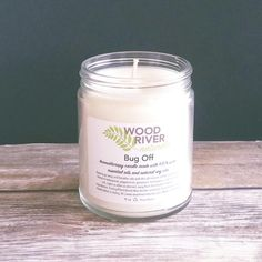 *FINAL SALE (Custom Made) product Tell bugs to take a hike with a safe, all natural therapeutic candle! Made with pure essential oils and soy wax, there is no w