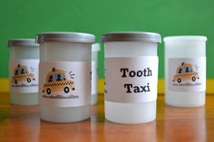 "The ""Tooth Taxi"" ... Cute way to send teeth home."