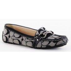 Coach Grey and Black Signature Scarlet Loafers
