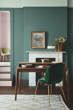 Sage Green Walls from Little Greene in a country home.