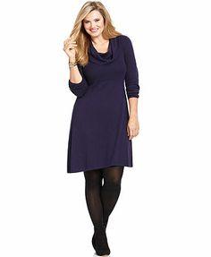 6842449a7f7 Plus Size Handkerchief-Hem Sweater Dress Plus Sizes - Dresses - Macy s
