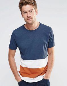 Image 1 of ASOS T-Shirt In Block Stripe