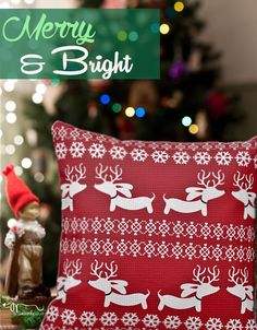 Everyday is a bit more merry and way more bright with a dachshund around, so go on and wienerize your holiday with our Fair Isle Ugly Christmas Sweater reindeer dachshund pillows.