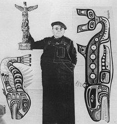 Charlie James, Northwest coast Native / Kwakiutl totem carver & artist