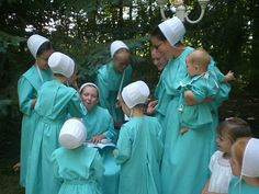 The Amish in Ohio never wear this color but it is pretty--wonder where this was taken?
