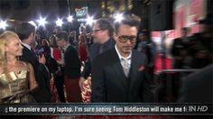 Robert Downey Jr. Makes Superhero Entrance at Iron Man 3 Premiere   Movie Talk - Yahoo! Movies