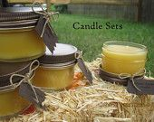 Beeswax Candle Sets! www.etsy.com/essentiallycandles www.facebook.com/nicolesessentialcandles