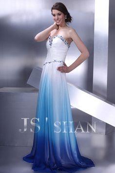Dip-dye Blue and White Dress