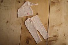 Newborn Girl Set Pants & Hat Pink Pants Newborn Hat Baby
