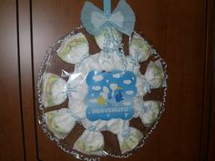 torta di pannolini _  coccarda nascita