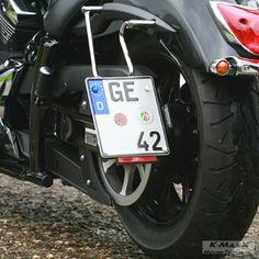 Yamaha XVS 950 A seitlicher Kennzeichenhalter