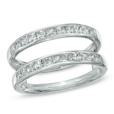 1 ct total weight Princess cut Diamond Solitaire Enhancer. Possibly for a 5 year wedding anniversary?