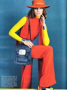 Pop Art Fashion, 70s Fashion, Colorful Fashion, Fashion Models, Vintage Fashion, Womens Fashion, Fashion Designers, Split Complementary Color Scheme, Sebastian Kim