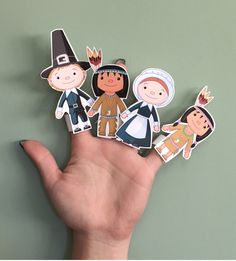Thanksgiving is a great time for storytelling. These Thanksgiving Finger Puppets make the stories even more fun. Thanksgiving Story For Kids, Thanksgiving Activities For Kids, Thanksgiving 2017, Thanksgiving Recipes, Finger Puppet Patterns, Puppets For Kids, Felt Finger Puppets, Puppet Crafts, Puppet Making