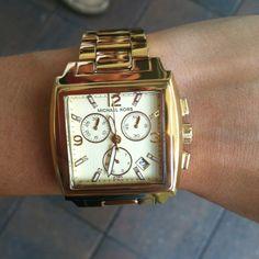 My birthday present!  Michael Kors square face watch