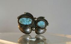 Sterling Silver Turquoise Ring Navajo Jewelry Size 6.5 Vintage Blue Turquoise DanPickedMinerals  Classic, traditional Navajo silver