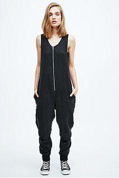 Pippa Lynn Zip Front Jumpsuit in Black