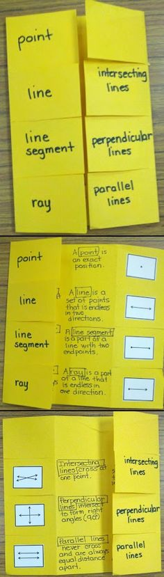 Teaching Lines - Interactive Notebook.