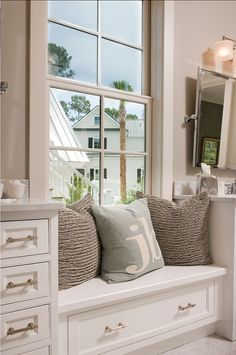 Bathroom Paint Color Ideas. The paint color in this bathroom is mindful gray #7016 Sherwin Williams, with a custom white trim. #BathroomPaintColor