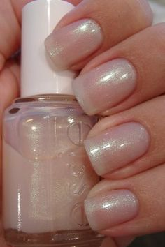 Nude Beach  Don't be shy. You're beautiful just as you are in this bikini-optional, glimmering sheer pink nail polish.
