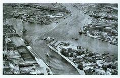 Stare zdjęcie Gdańska / Old photo of Gdansk Danzig, Bucharest, Old Photos, Poland, Explore, City, Vintage, Historia, Pictures