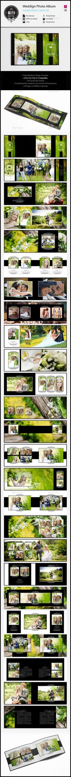 #Wedding Photo Album Template A - Photo Albums Print Templates Download here: https://graphicriver.net/item/wedding-photo-album-template-a/12751809?ref=classicdesignp