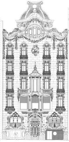 Casa Comalat, fachada Diagonal - Barcelona, Spain #Art #Nouveau architect Salvador Valeri 1911
