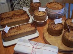 Selection of the hand raised pork pies I make to order.