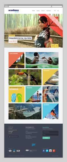 Acadimos travel by Radial, via Behance Web Design Tools, Site Design, Interactive Web Design, Email Template Design, Email Design Inspiration, Mobile Web Design, Ui Web, Newsletter Design, Album Design