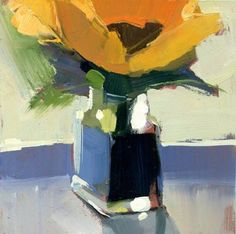"""Daily Paintworks - """"#1077 Flower and Spice"""" - Original Fine Art for Sale - © Lisa Daria  (6""""x6"""" $100 SOLD)"""