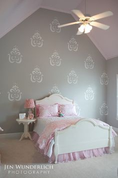Iu0027d Like To Find A Large Stencil Like This And Apply It Randomly On · Girl  Room DecorKids ...