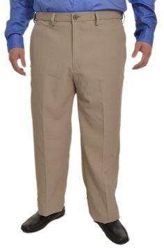 Haggar Performance Mens Cool 18 Dress Pants 36x34 Flat Front Lighweight NEW