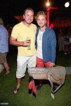 Ashley Felton and actor Tom Felton (R) attend Maui Film Festival's Taste of Chocolate at the Four Seasons Maui on June 17, 2016 in Wailea, Hawaii.