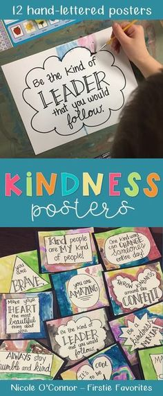 12 hand-lettered kindness posters! LOVE!