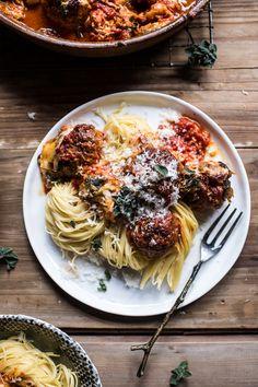 Simple Baked Italian Oregano Meatballs   halfbakedharvest.com @hbharvest