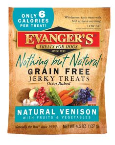 Evanger's Grain Free Venison with Fruits and Veggies Dog Treats - 4.5-oz