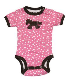 Adorable from top to button-snap bottom, this sweet bodysuit is loaded with a precious graphic that will have Baby swaddled in cheek pinches and hugs. Handy button snaps at the shoulder make fitting darlings into this delightful number extra easy.