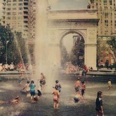 Swim in a fountain