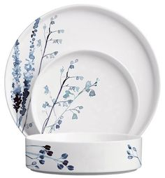 Margaret Berg Art: Field+Grasses+Dinnerware, Hand painted dishes plates in blue on white porcelain A delicately decorated full set of plates and bowls. No more mismatched stuff
