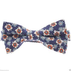 FLATSEVEN Mens Flower Printed Floral Pattern Pre-Tied Bow Tie (YB012) #FLATSEVEN #BowTie