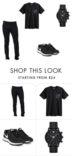 """OP"" by aiste-mini on Polyvore featuring Dsquared2, Hurley, NIKE and Emporio Armani"