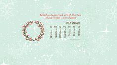 December 2014 calendar wallpaper