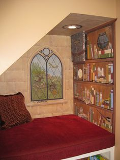 actually make something like this with an actual bookshelf and window and it may be cool