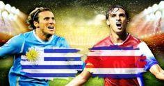 Uruguay es el campeón de la Copa Amérca celebrada en Argentina en 2011. Uruguay vs Costa Rica. June 14, 2014.