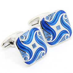 Floating Wave in Soft Square Cufflinks