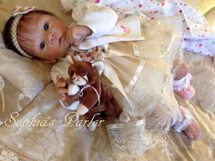 "NEW Reborn Girl 22"" Baby Doll Pretty Harlow LE Tummy Plate Laura Tuzio Ross COA"