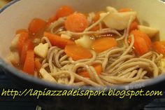 #Zuppa #giapponese con verdure e pasta #Soba - #Japanese #soup with vegetables and soba