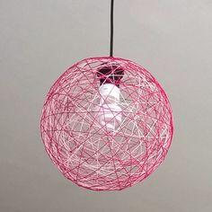 Pink yarn lamp Felt Decorations, Ceiling Lights, Lighting, Pink, Home Decor, Products, Decoration Home, Room Decor, Lights