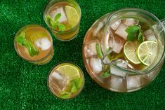 Sweet Southern-style green tea with lime juice and mint. 【这么简单的东西还save一个recipe搞得我有点耻辱感……】